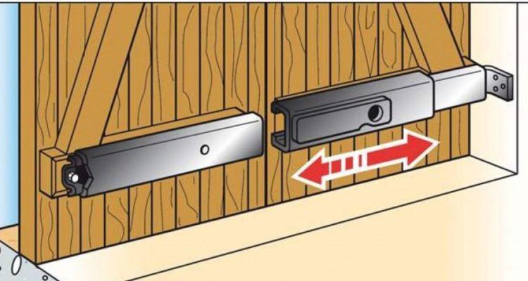 Barre pour volet coulissante anti effraction à verrouillage par clé