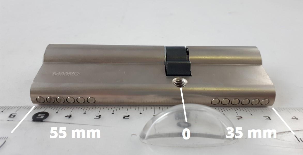 Mesurer un cylindre à double entrée