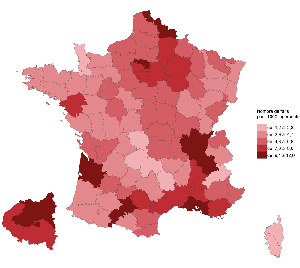 Statistiques cambriolages France