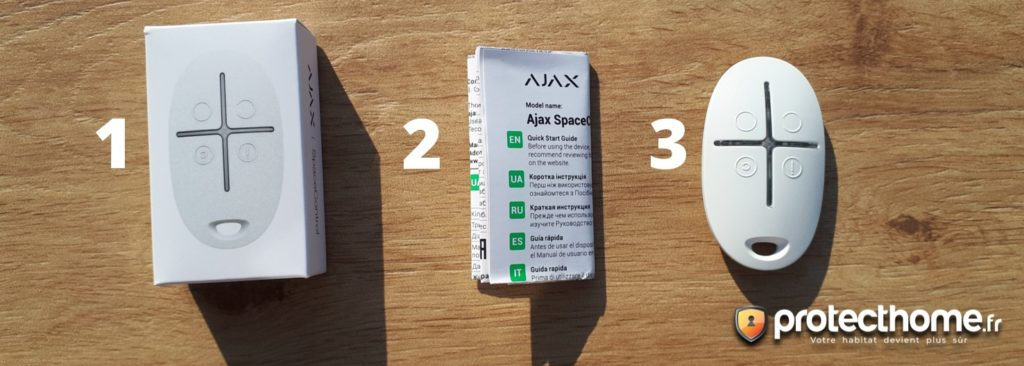 Alarme maison AJAX Spacecontrol