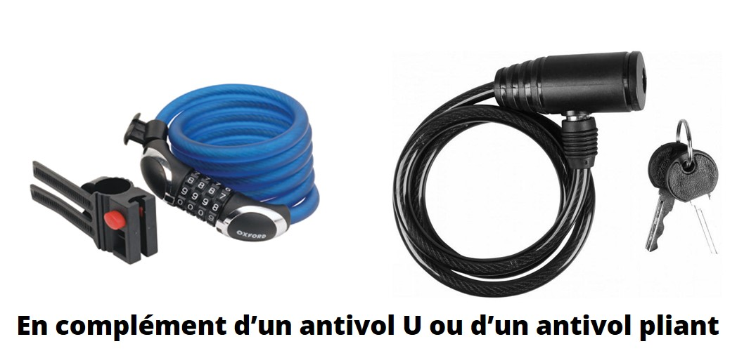 Antivol cable vélo